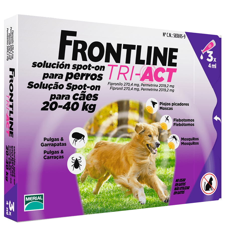 Frontline Tri Act Cani 20-40 kg